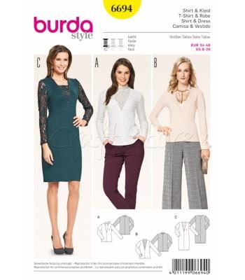 c21e70c4417c Burda Πατρόν Φόρεμα και Μπλούζες 6694
