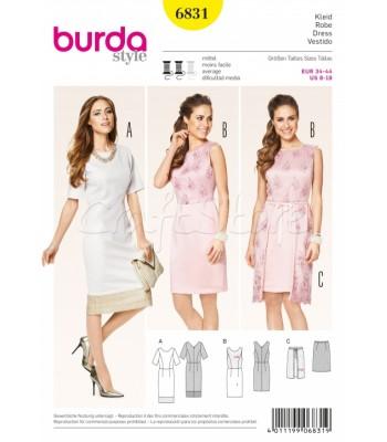 Burda Πατρόν Φορέματα 6831