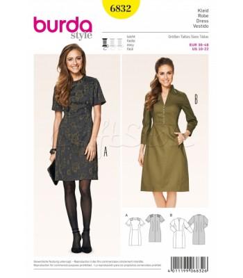 Burda Πατρόν Φορέματα 6832