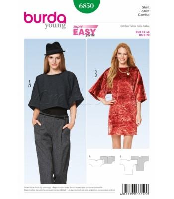 Burda Πατρόν Φορέματα 6850