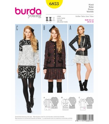 Burda Πατρόν Φορέματα 6853