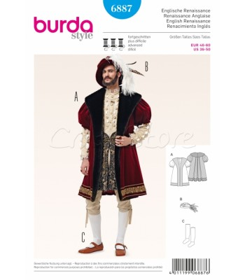 Burda Πατρόν Ιστορικό Κοστούμι 6887