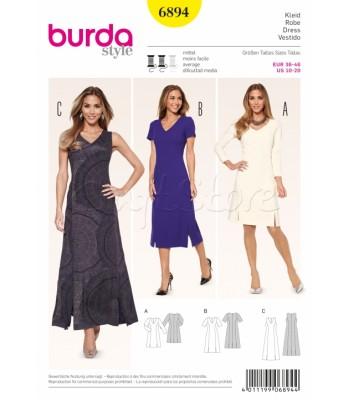 Burda Πατρόν Φορέματα 6894