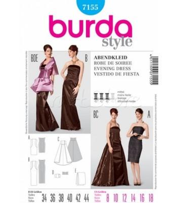 5b0db1612b0 Burda Πατρόν Βραδυνά Φορέματα και Κάπα 7155