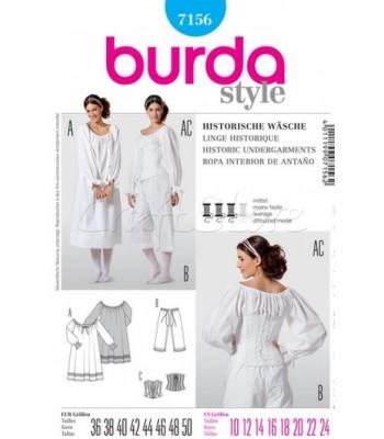 Burda Πατρόν Ιστορικά Εσώρουχα 7156