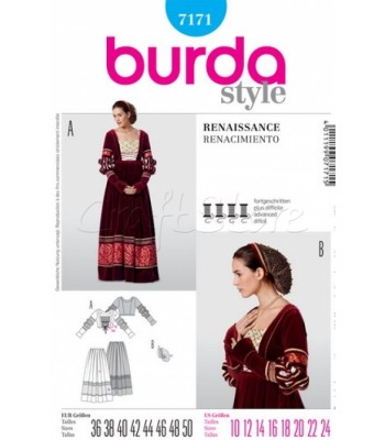 Burda Πατρόν Παραδοσιακό Φόρεμα 7171