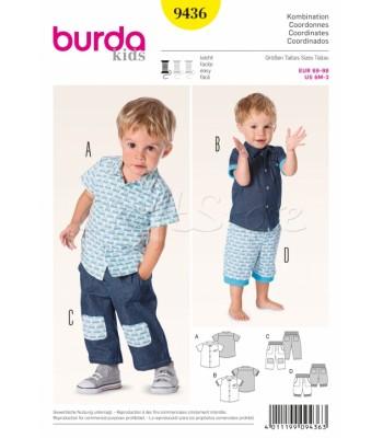 Burda Πατρόν Καθημερινά Παιδικά Ρούχα 9436 baa55cf976f