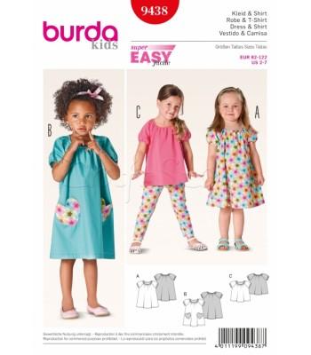 8730564b3c8b Burda Πατρόν Παιδικά Φορέματα 9438