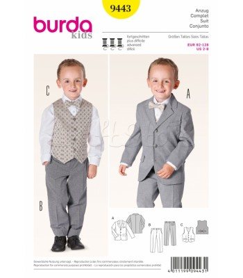 Burda Πατρόν Αγορίστικο Κοστούμι 9443