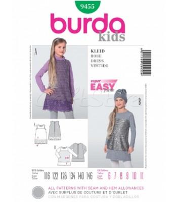 bc44d13bb45 Burda Πατρόν Παιδικά Φορέματα 9455
