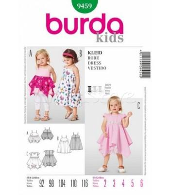 248ca0c2344 Burda Πατρόν Παιδικά Φορέματα 9459