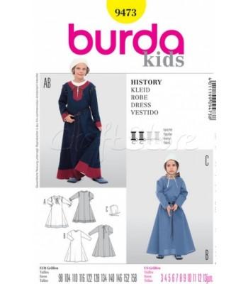 Burda Πατρόν Παιδική Στολή Καλόγριας 9473