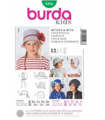 cfc72827cef Burda Πατρόν Παιδικά Καπέλα 9496