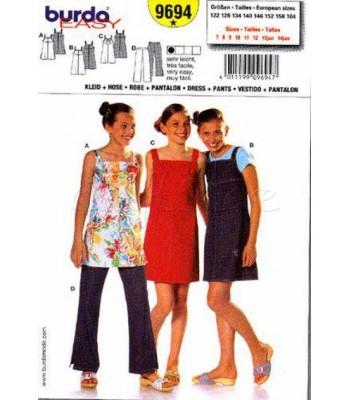 8233b9efac5 Burda Πατρόν Παιδικά Φορέματα και Παντελόνι 9694