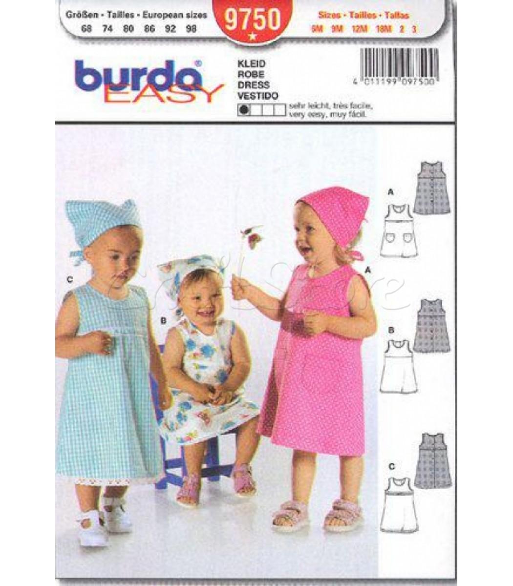 cd2d29a503a5 Burda Πατρόν Βρεφικά Φορέματα 9750