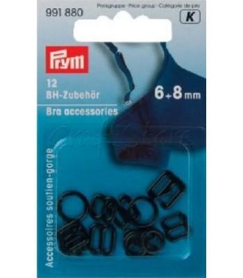 Κουμπώματα Σουτιέν Μεταλλικά Μαύρα 6mm-8mm