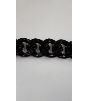 Ακρυλική Αλυσίδα 40x35mm Μαύρο