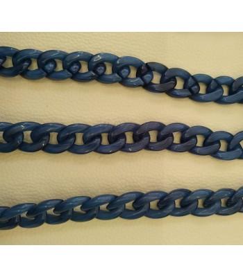 Ακρυλική Αλυσίδα 25x20mm Μπλε