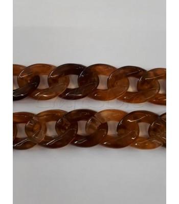 Ακρυλική Αλυσίδα 30x21mm Ταρταρούγα