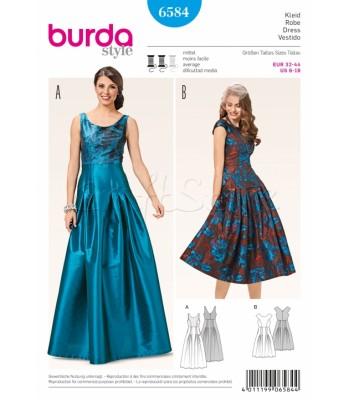 Burda Πατρόν Επίσημα Φορέματα 6584 50ce75a7f9b