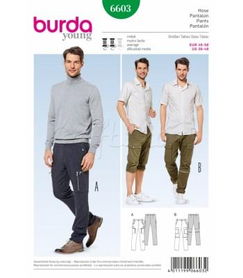 Burda Πατρόν Ανδρικά Παντελόνια 6603