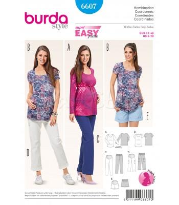 Burda  Πατρόν Συνδυασμός Ρούχων Εγκυμοσύνης 6607