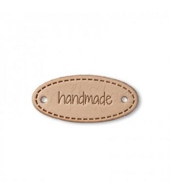 Ετικέτα Handmade Ροζ Χρυσό Οβαλ