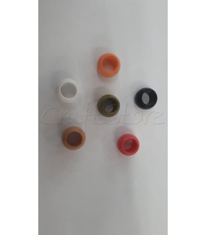 Ακρυλική Χάντρα 18x12.5mm (Ø10,5mm) (5 τεμάχια)