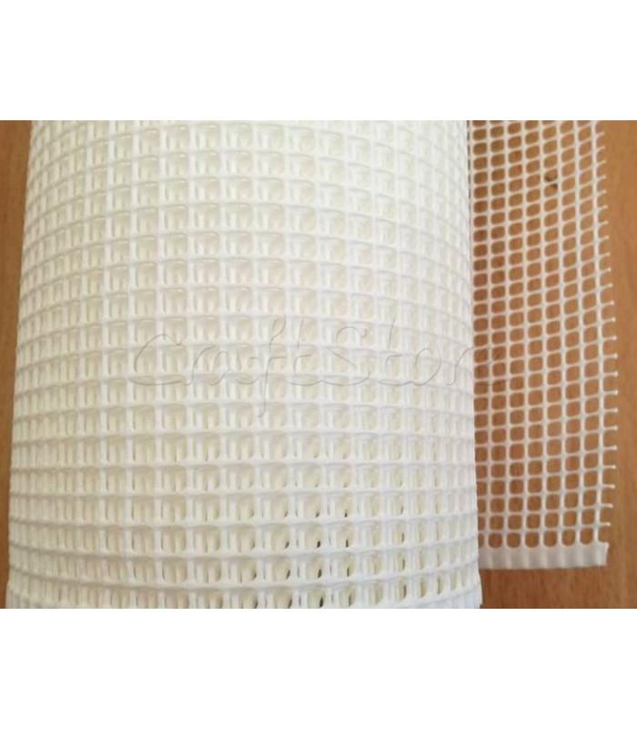 Πλέγμα για Τσάντες 5x5mm Λευκό φάρδος 1m.