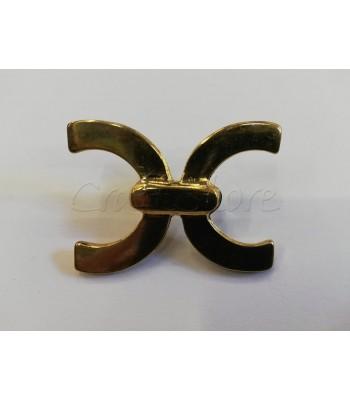 Μεταλλικό Διακοσμητικό Ταμπελάκι 4,6εκ. Χρυσό