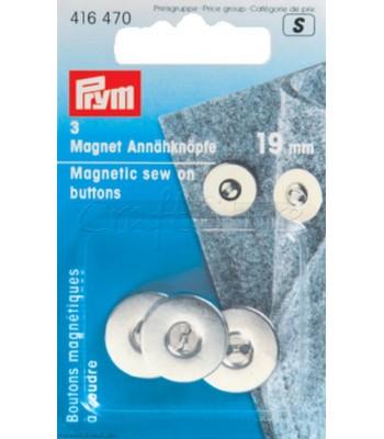 Κουμπιά Μαγνητικά Ραβόμενα 19mm Νικελέ