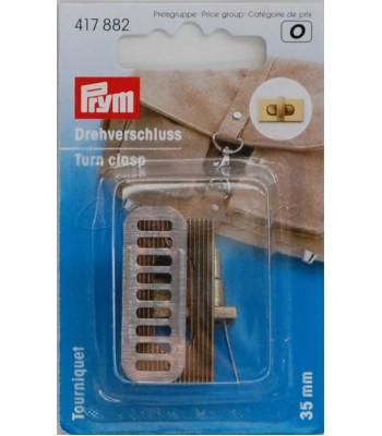 Κούμπωμα Στριφτό-Κλιπ Τσάντας Μπρονζέ 35*20mm
