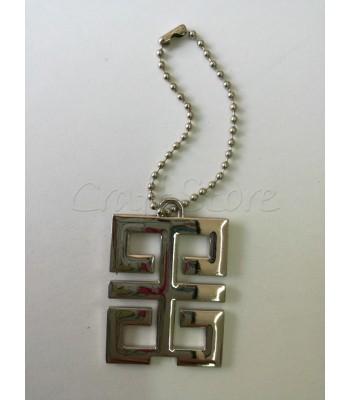 Διακοσμητικό Κρεμαστό Ταμπελακι Ορθογώνιο 5x3.5εκ. Νίκελ