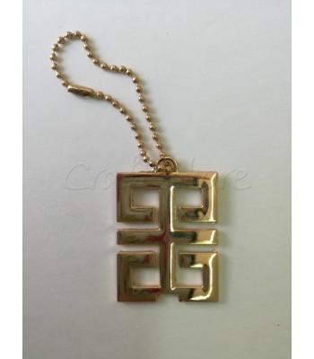 Διακοσμητικό Κρεμαστό Ταμπελακι Ορθογώνιο 5x3.5εκ. Χρυσό