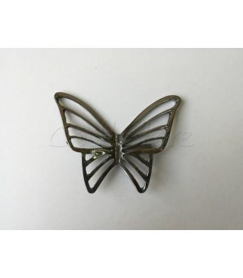Διακοσμητικό Ταμπελάκι Πεταλούδα 6εκ. Μαύρο Νίκελ