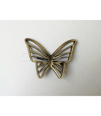 Διακοσμητικό Ταμπελάκι Πεταλούδα 6εκ. Μπρονζέ