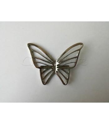 Διακοσμητικό Ταμπελάκι Πεταλούδα 6εκ. Νίκελ