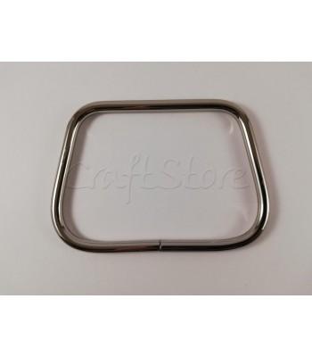Μεταλλική Λαβή-Χερούλι Καρπού Τραπέζιο 11.5 Χ 8 εκ.  Νίκελ 1τμχ