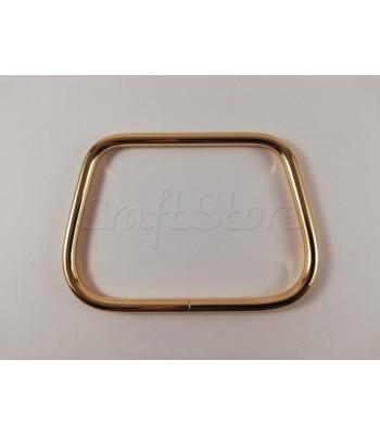 Μεταλλική Λαβή-Χερούλι Καρπού Τραπέζιο 11.5 Χ 8 εκ.  Χρυσό 1τμχ
