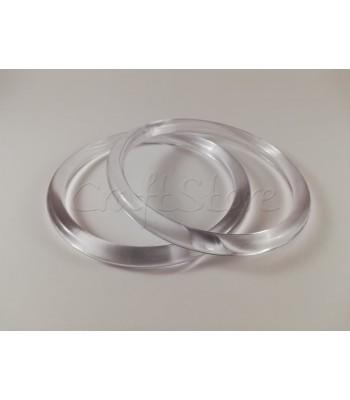 Χερούλια Κρίκοι Κοκκάλινοι Διάφανοι 10cm