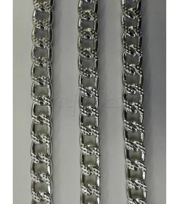 Αλυσίδα  10x15mm Πλακέ Σαγρέ Νίκελ