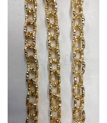 Αλυσίδα Σαγρέ 1.5x0.5cm Χρυσό
