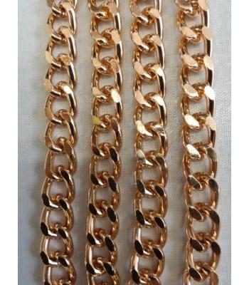 Αλυσίδα Αλουμινίου Ροζ Χρυσό 11x15mm/3mm