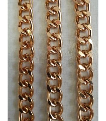 Αλυσίδα Αλουμινίου Ροζ Χρυσό 15x19mm/4mm