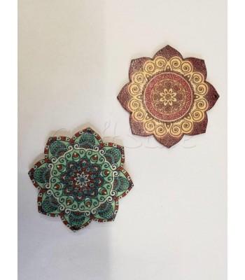 Μοτίφ Ξύλινο Λουλούδι 60mm