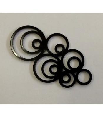 Φούσκιες Ακρυλικό Στοιχείο 40x70mm Μαύρο