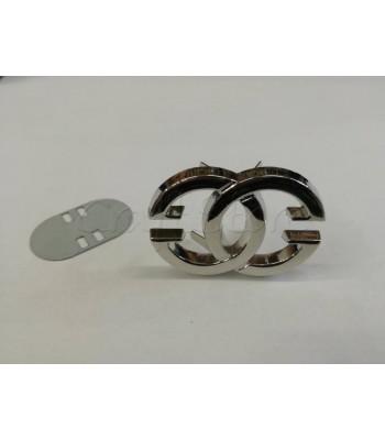 Ταμπελάκι ομορφιάς Διακοσμητικοί Κύκλοι 4.5x3cm Νίκελ
