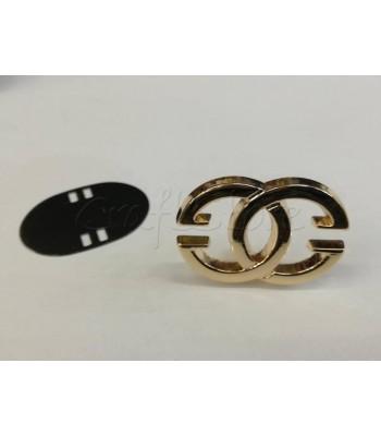 Ταμπελάκι ομορφιάς Διακοσμητικοί Κύκλοι 4.5x3cm Χρυσό