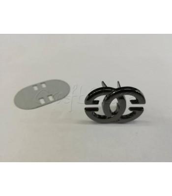 Ταμπελάκι ομορφιάς Διακοσμητικοί Κύκλοι 2.5cm Μαύρο Νίκελ