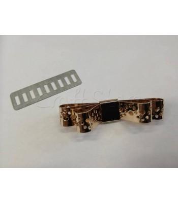 Διακοσμητικό Φιογκάκι Διπλό Διάτρητο 5.5cm Χρυσό
